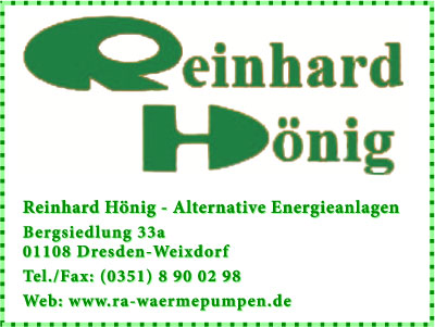 Reinhard Hönig - Alternative Energieanlagen