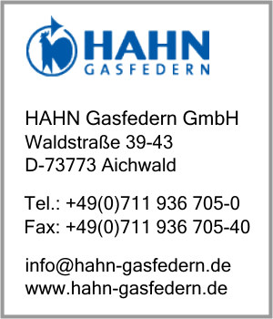 firma hahn gasfedern gmbh in aichwald branche n gasfedern. Black Bedroom Furniture Sets. Home Design Ideas